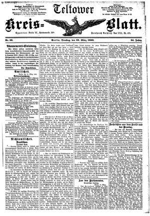 Teltower Kreisblatt vom 25.03.1890