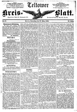 Teltower Kreisblatt vom 27.03.1890