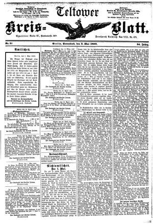 Teltower Kreisblatt vom 03.05.1890