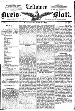 Teltower Kreisblatt vom 15.05.1890