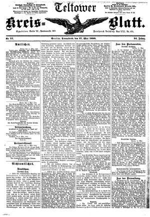 Teltower Kreisblatt vom 17.05.1890