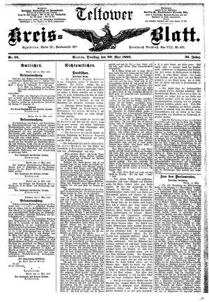 Teltower Kreisblatt vom 20.05.1890