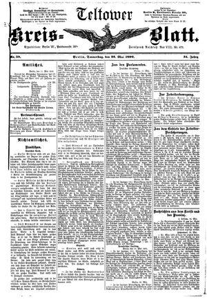 Teltower Kreisblatt vom 22.05.1890