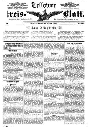 Teltower Kreisblatt vom 24.05.1890