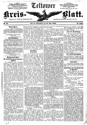 Teltower Kreisblatt vom 31.05.1890