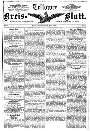 Teltower Kreisblatt vom 03.06.1890