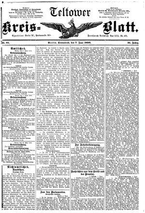 Teltower Kreisblatt vom 07.06.1890