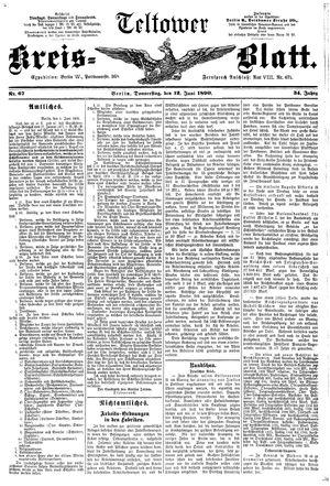 Teltower Kreisblatt vom 12.06.1890