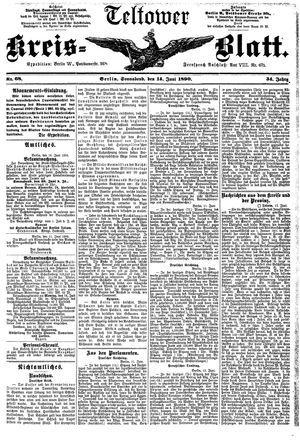 Teltower Kreisblatt vom 14.06.1890