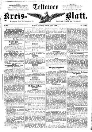 Teltower Kreisblatt vom 17.06.1890