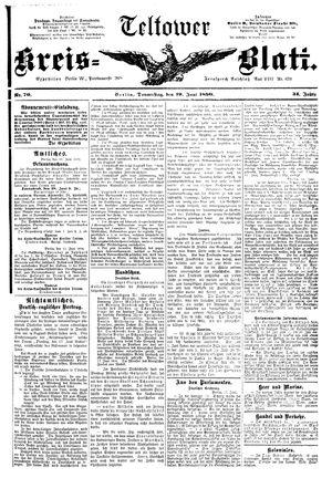 Teltower Kreisblatt vom 19.06.1890