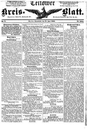 Teltower Kreisblatt vom 21.06.1890