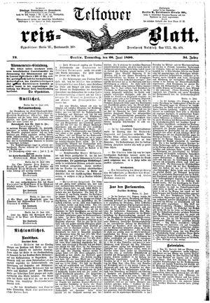 Teltower Kreisblatt vom 26.06.1890