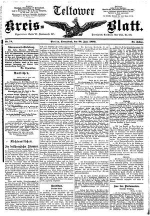 Teltower Kreisblatt vom 28.06.1890