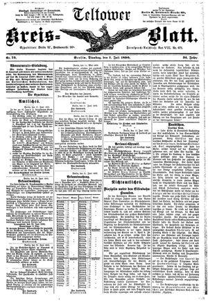 Teltower Kreisblatt vom 01.07.1890