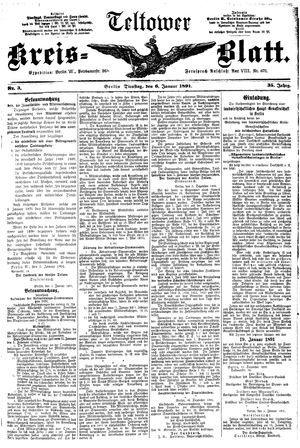 Teltower Kreisblatt vom 06.01.1891