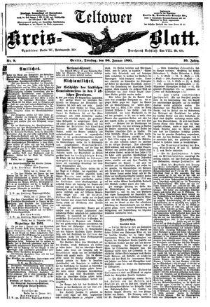 Teltower Kreisblatt vom 20.01.1891