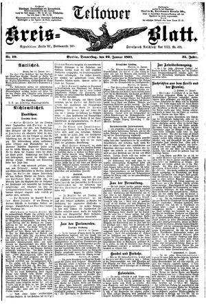 Teltower Kreisblatt vom 22.01.1891