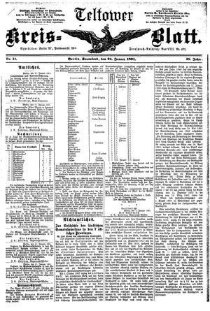 Teltower Kreisblatt vom 24.01.1891