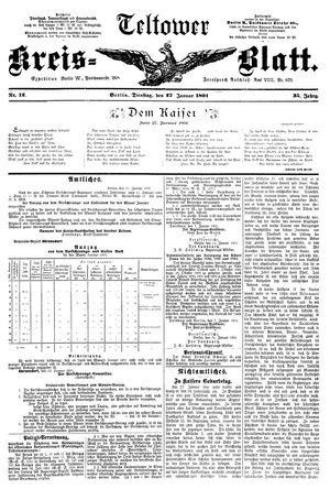 Teltower Kreisblatt vom 27.01.1891