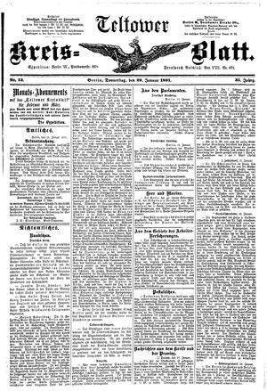 Teltower Kreisblatt vom 29.01.1891