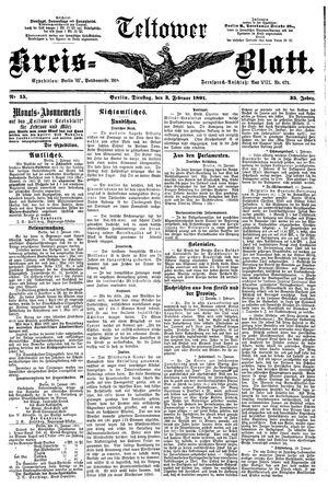Teltower Kreisblatt vom 03.02.1891