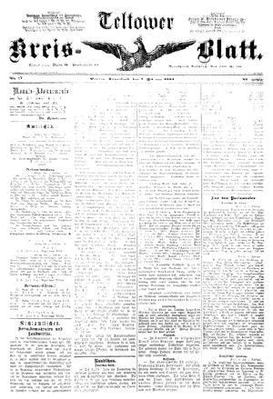 Teltower Kreisblatt vom 07.02.1891