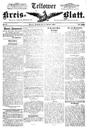 Teltower Kreisblatt vom 17.02.1891