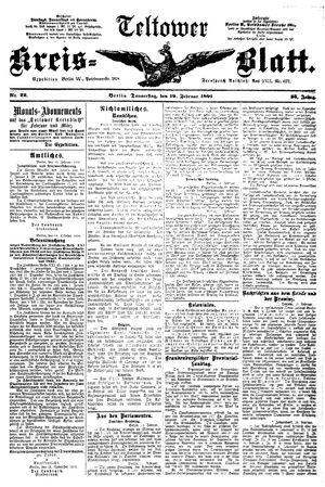 Teltower Kreisblatt vom 19.02.1891