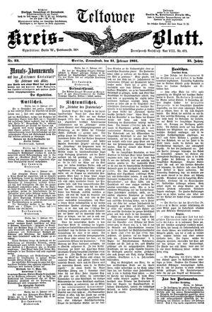 Teltower Kreisblatt vom 21.02.1891