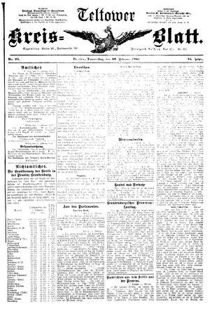 Teltower Kreisblatt vom 26.02.1891
