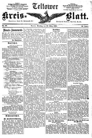 Teltower Kreisblatt vom 10.03.1891