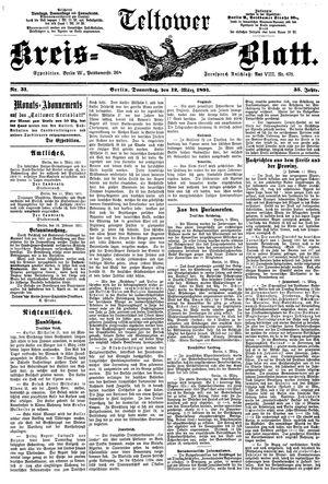 Teltower Kreisblatt vom 12.03.1891