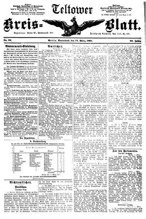 Teltower Kreisblatt vom 14.03.1891