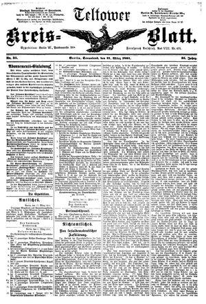 Teltower Kreisblatt vom 21.03.1891