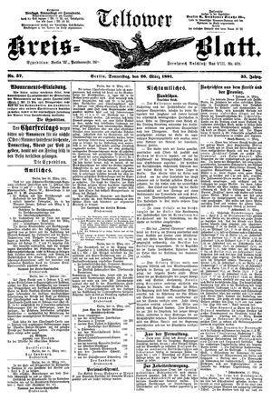 Teltower Kreisblatt vom 26.03.1891