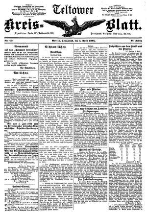 Teltower Kreisblatt on Apr 4, 1891