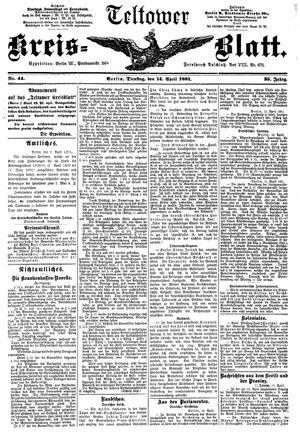 Teltower Kreisblatt vom 14.04.1891
