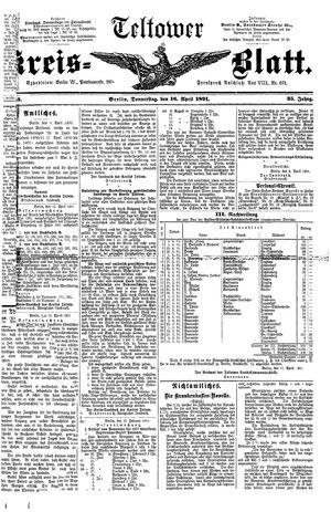 Teltower Kreisblatt on Apr 16, 1891