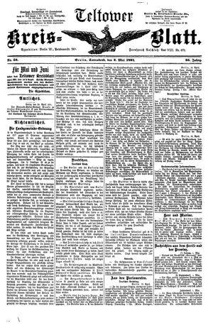 Teltower Kreisblatt vom 02.05.1891