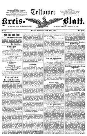 Teltower Kreisblatt vom 09.05.1891