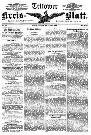 Teltower Kreisblatt vom 12.05.1891