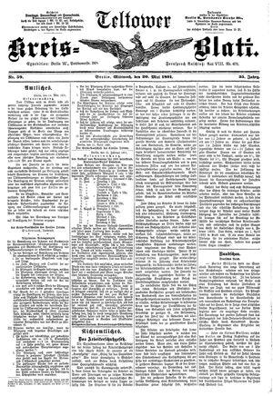 Teltower Kreisblatt vom 20.05.1891