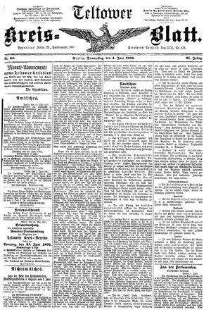 Teltower Kreisblatt on Jun 4, 1891