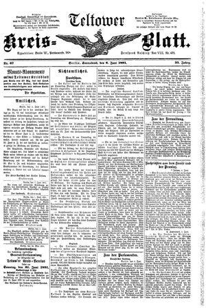 Teltower Kreisblatt vom 06.06.1891