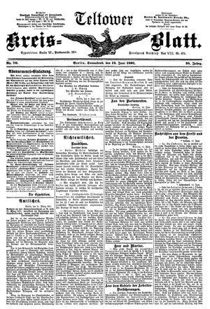 Teltower Kreisblatt on Jun 13, 1891