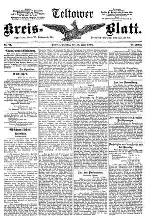 Teltower Kreisblatt vom 16.06.1891