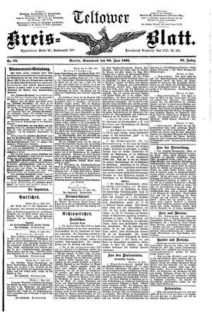 Teltower Kreisblatt vom 20.06.1891