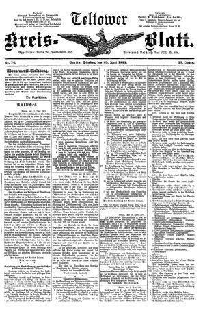 Teltower Kreisblatt vom 23.06.1891