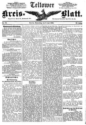 Teltower Kreisblatt vom 02.07.1891